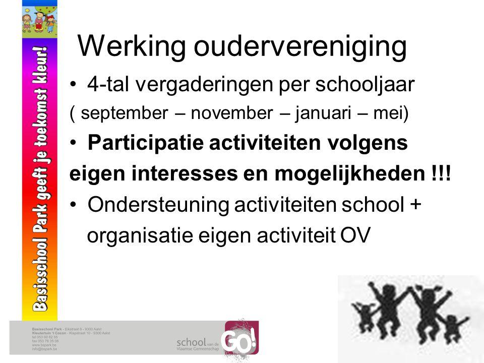 Activiteiten oudervereniging SCHOOLJAAR 2010 - 2011