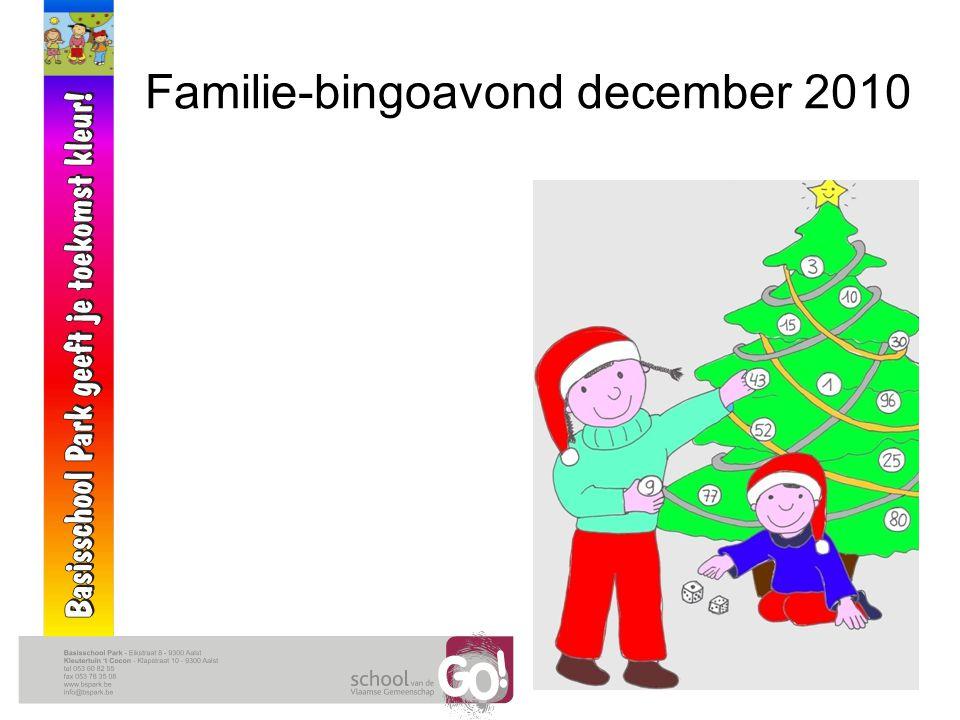 Familie-bingoavond december 2010