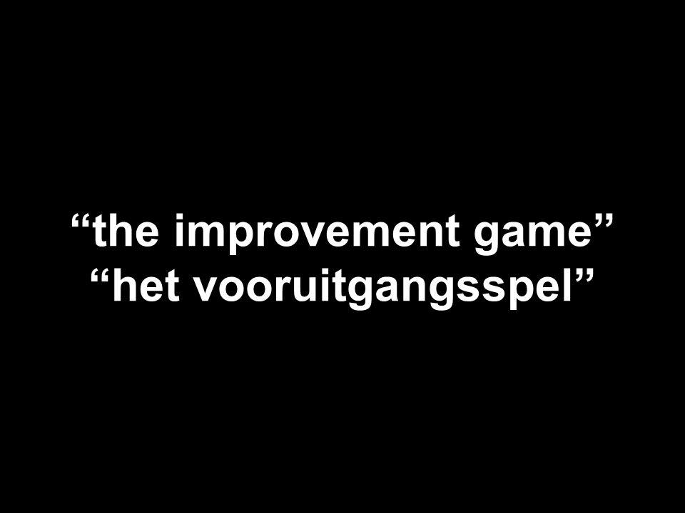 """""""the improvement game"""" """"het vooruitgangsspel"""""""