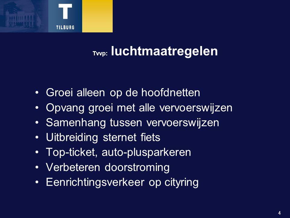 15 De knoppen van het LKP: Schoon openbaar vervoer Niet minder bussen Aardgas Concessie 2007 ev