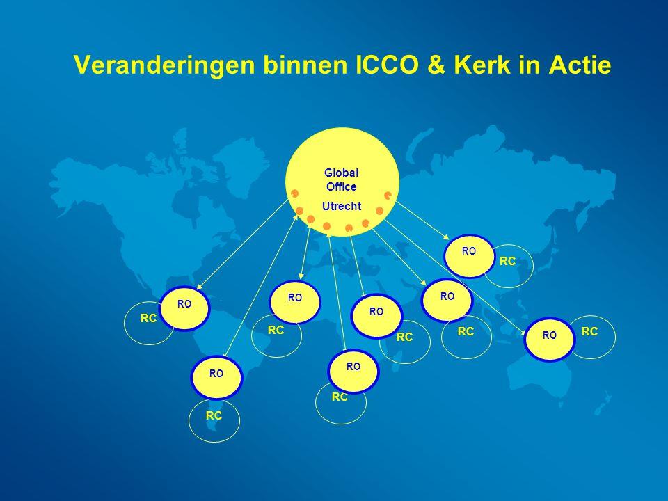 Veranderingen binnen ICCO & Kerk in Actie RO Global Office Utrecht RC RO