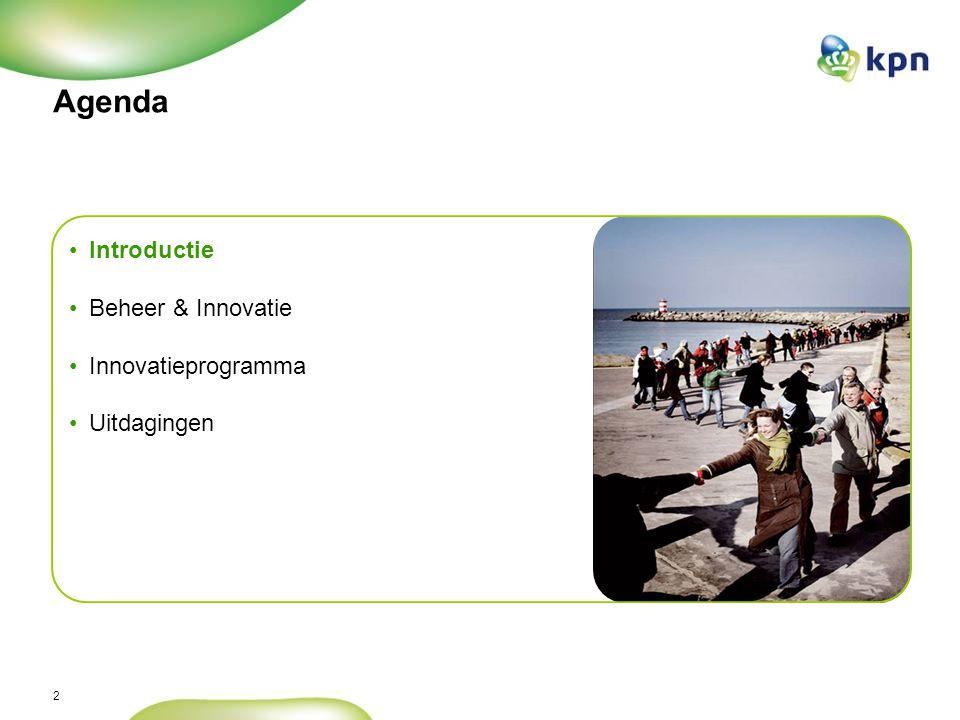 2 Agenda Introductie Beheer & Innovatie Innovatieprogramma Uitdagingen