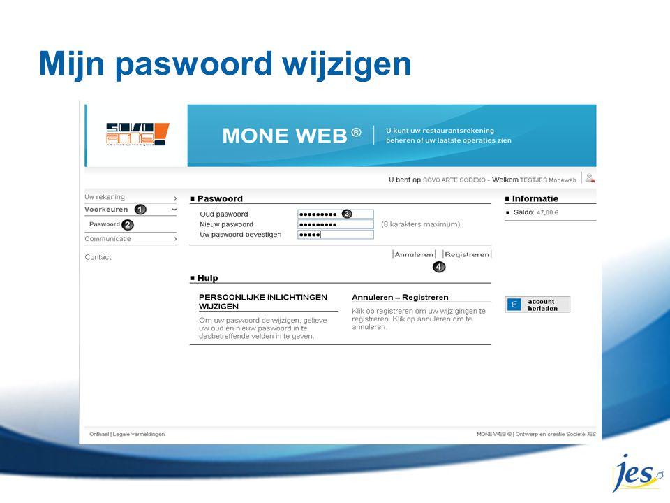 Mijn paswoord wijzigen