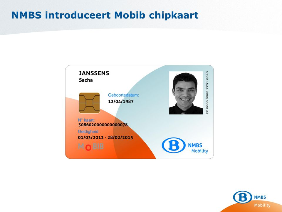 NMBS introduceert Mobib chipkaart