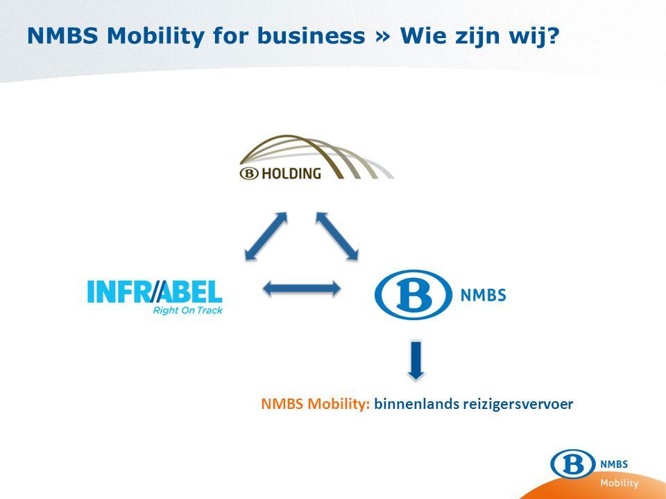 NMBS Mobility: binnenlands reizigersvervoer
