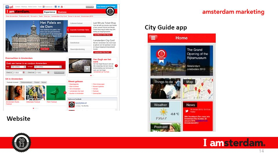 14 Website City Guide app