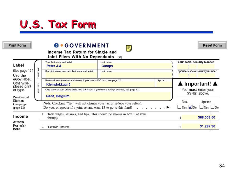 34 U.S. Tax Form