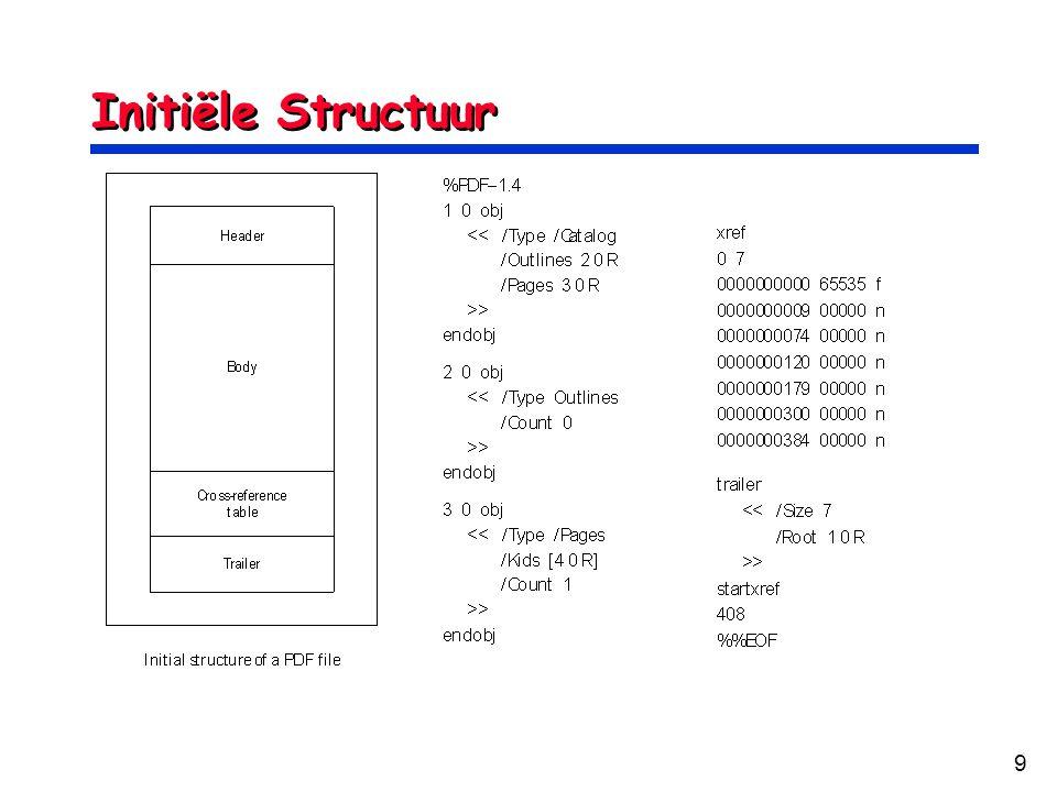 9 Initiële Structuur