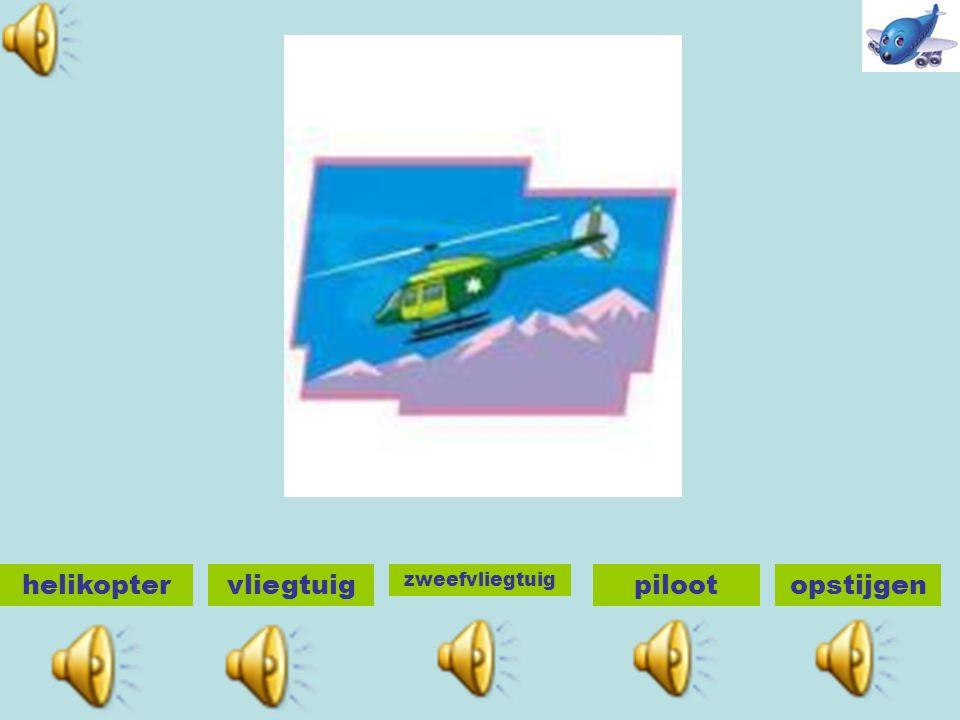 helikoptervliegtuig zweefvliegtuig pilootopstijgen