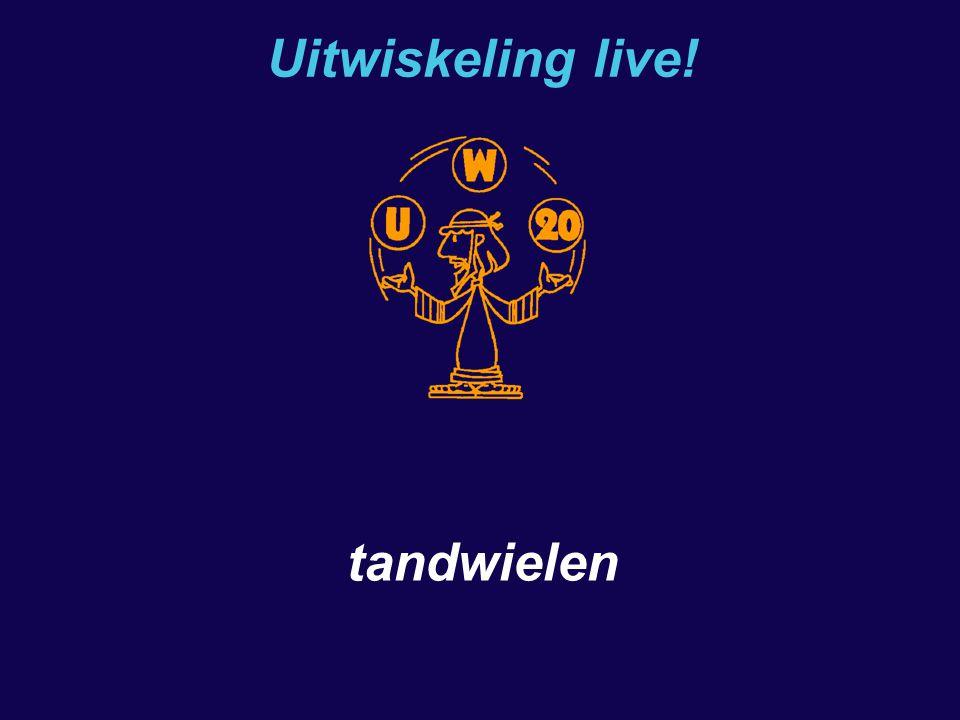 Uitwiskeling live! tandwielen