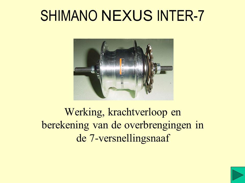 SHIMANO NEXUS INTER-7 Werking, krachtverloop en berekening van de overbrengingen in de 7-versnellingsnaaf