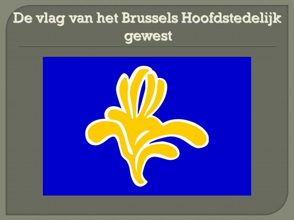 De vlag van het Brussels Hoofdstedelijk gewest