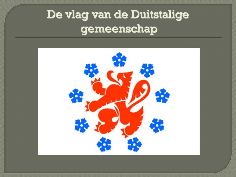 De vlag van de Duitstalige gemeenschap