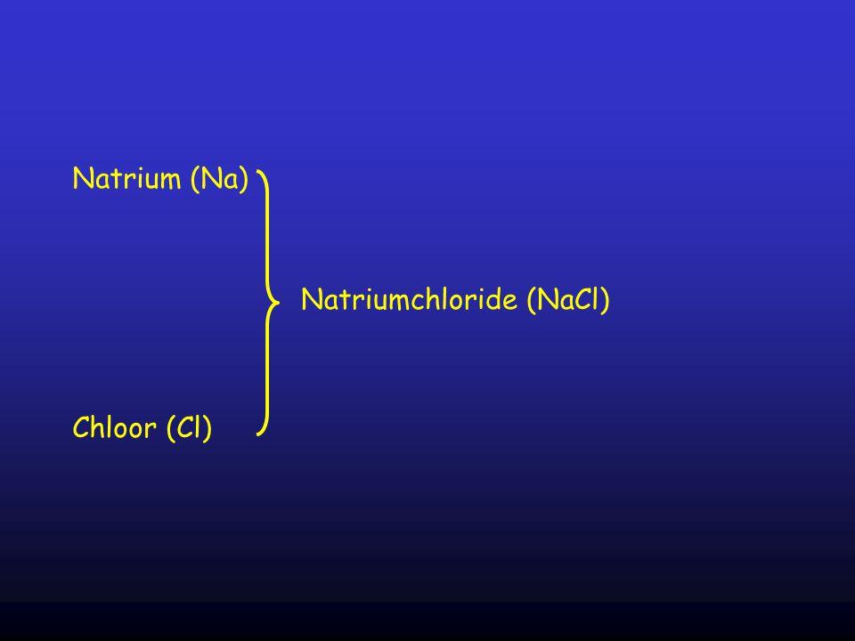Natrium (Na) Chloor (Cl) Natriumchloride (NaCl)