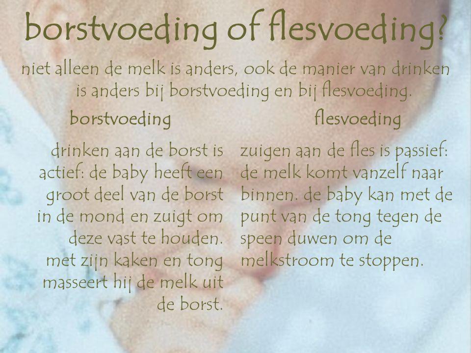 moedermelk of kunstvoeding.