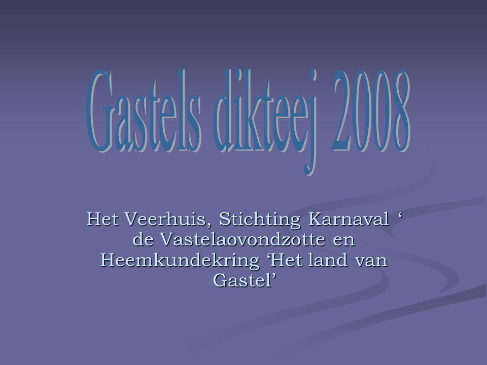 Het Veerhuis, Stichting Karnaval ' de Vastelaovondzotte en Heemkundekring 'Het land van Gastel'