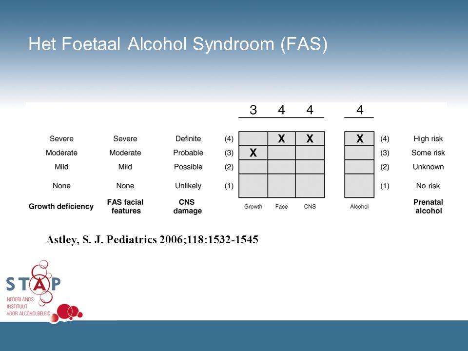Het Foetaal Alcohol Syndroom (FAS) Astley, S. J. Pediatrics 2006;118:1532-1545