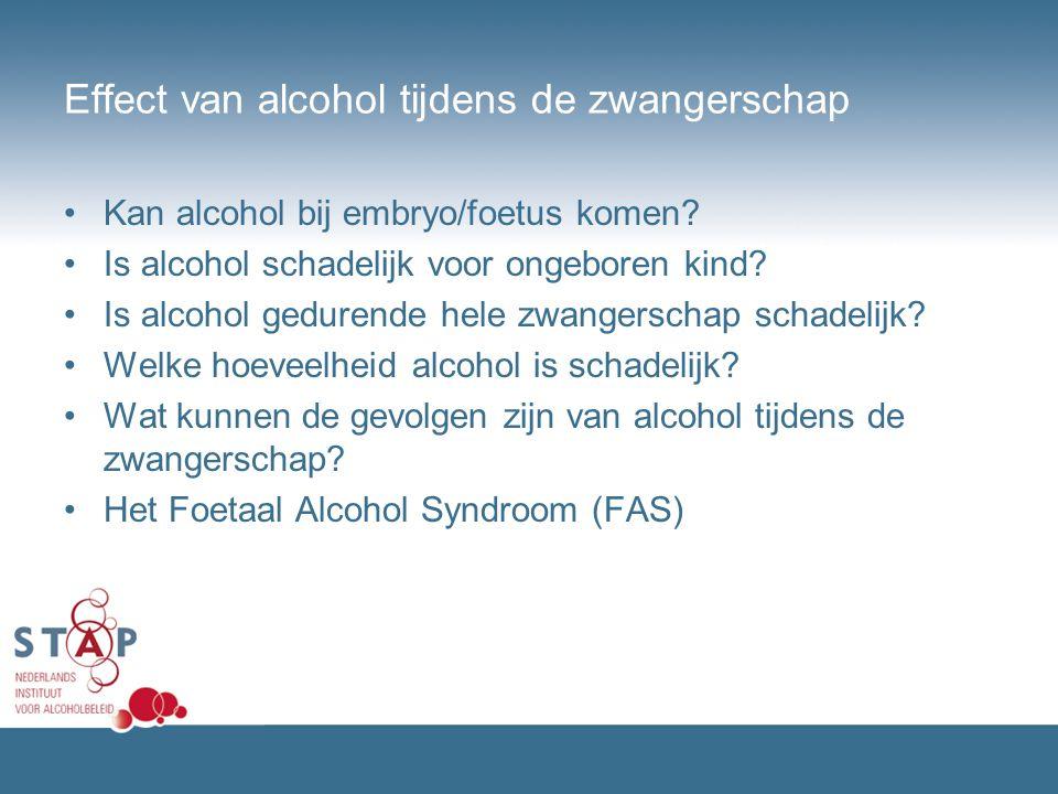 Effect van alcohol tijdens de zwangerschap Kan alcohol bij embryo/foetus komen? Is alcohol schadelijk voor ongeboren kind? Is alcohol gedurende hele z