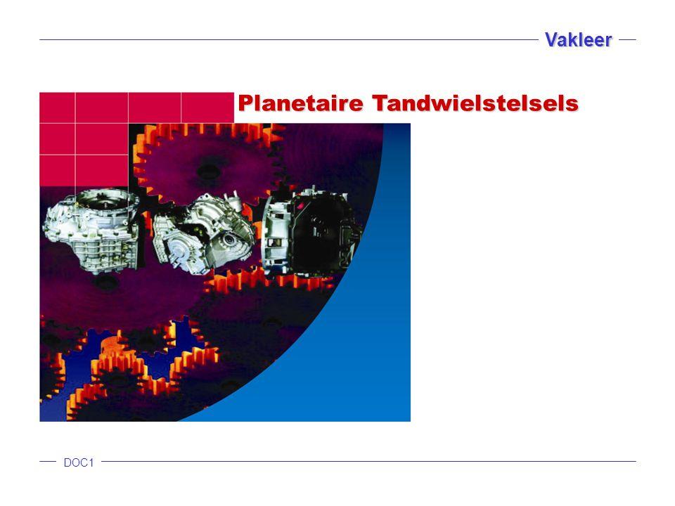 DOC1 Vakleer Planetaire Tandwielstelsels