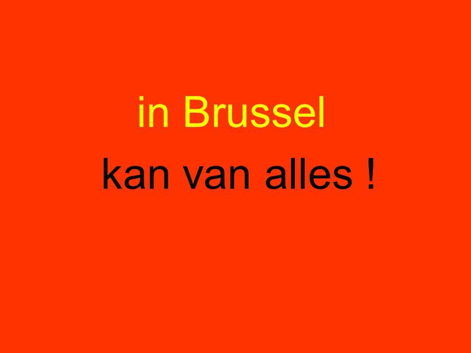 in Brussel kan van alles !