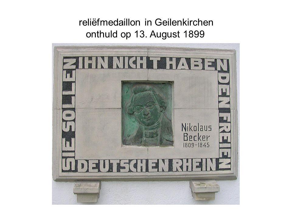 reliëfmedaillon in Geilenkirchen onthuld op 13. August 1899