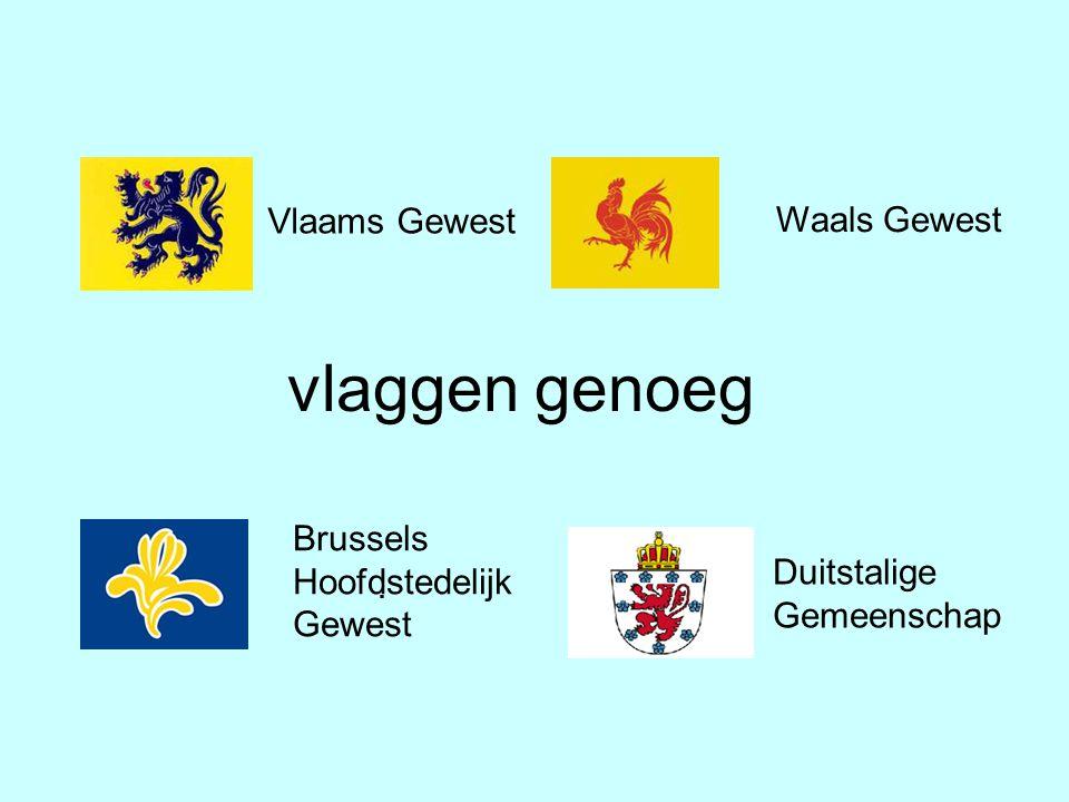 . Waals Gewest Vlaams Gewest Brussels Hoofdstedelijk Gewest vlaggen genoeg Duitstalige Gemeenschap