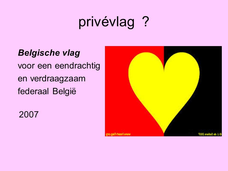 privévlag ? Belgische vlag voor een eendrachtig en verdraagzaam federaal België 2007