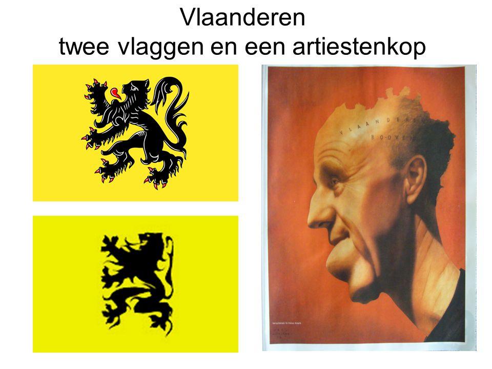 Vlaanderen twee vlaggen en een artiestenkop