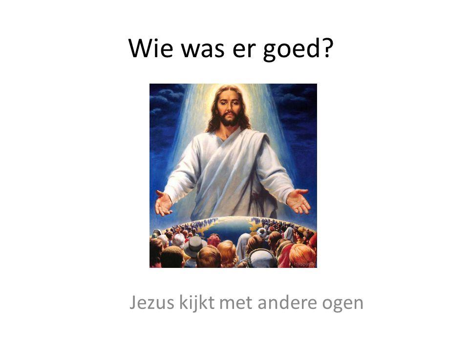 Wie was er goed? Jezus kijkt met andere ogen