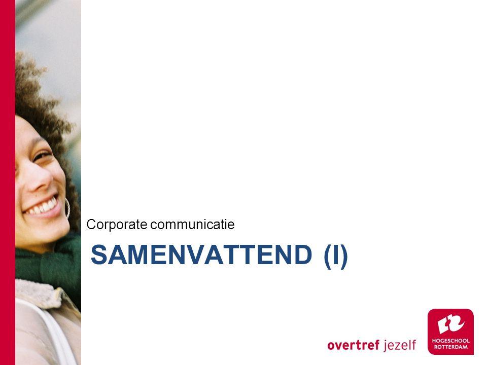 SAMENVATTEND (I) Corporate communicatie