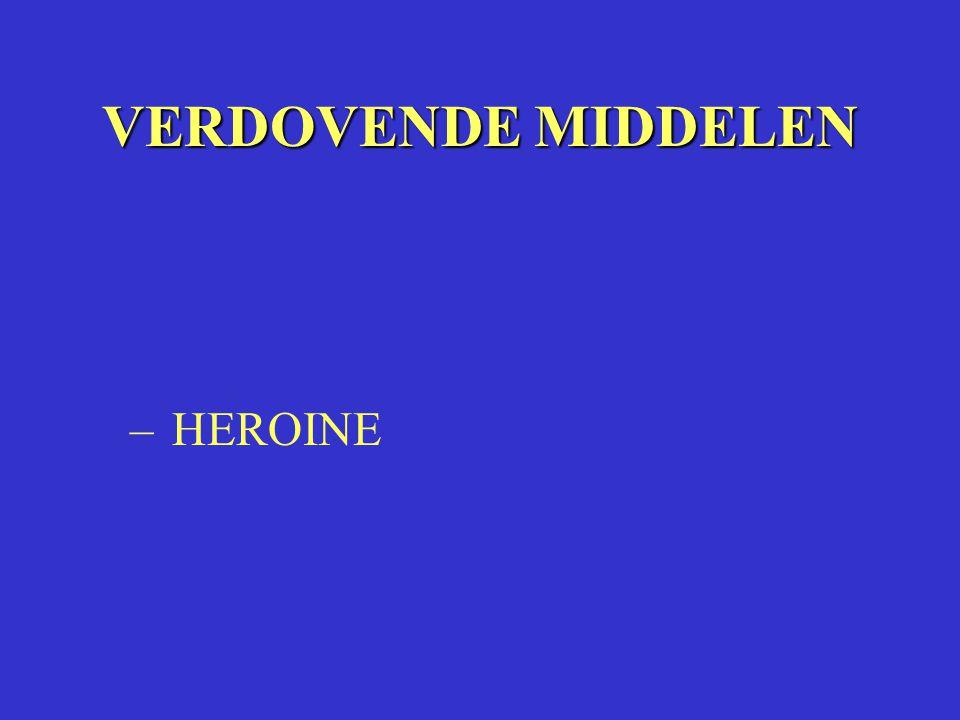 VERDOVENDE MIDDELEN – HEROINE