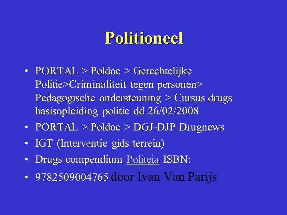 Politioneel PORTAL > Poldoc > Gerechtelijke Politie>Criminaliteit tegen personen> Pedagogische ondersteuning > Cursus drugs basisopleiding politie dd