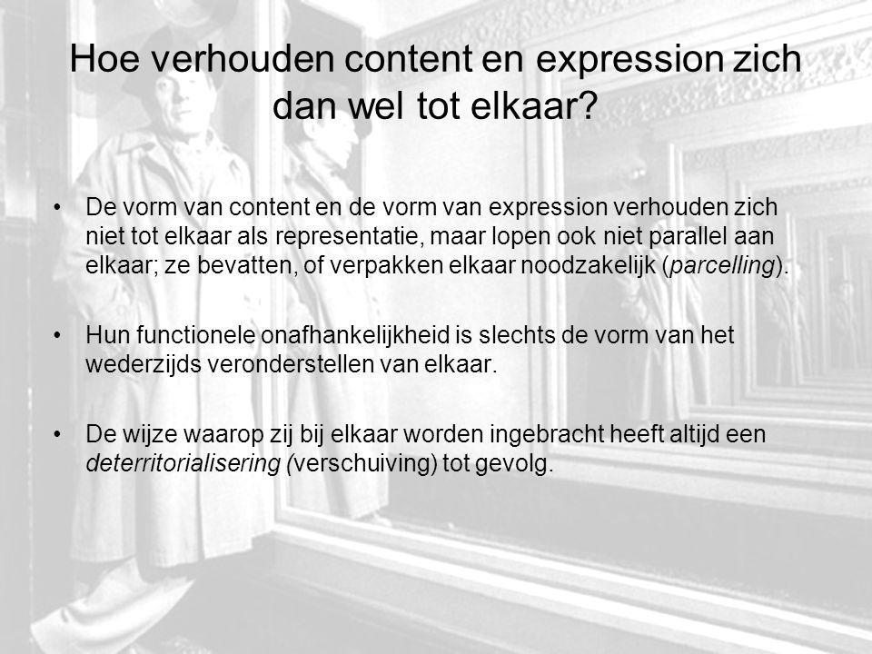 Conclusie: hoe verhouden inhoud en expressie zich tot elkaar.