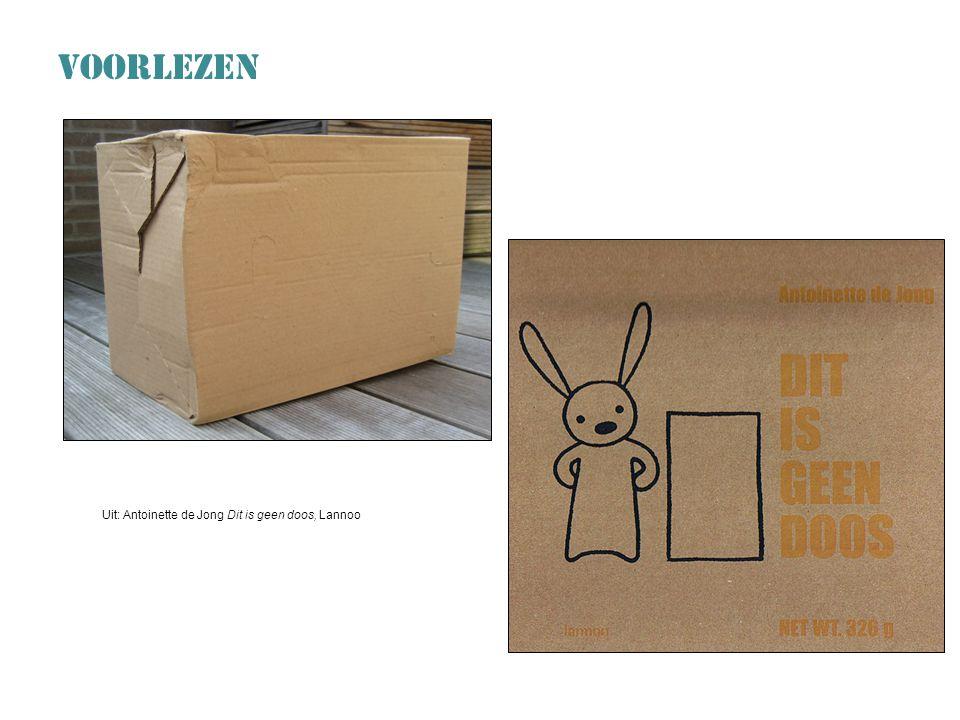 Uit: Antoinette de Jong Dit is geen doos, Lannoo VOORLEZEN