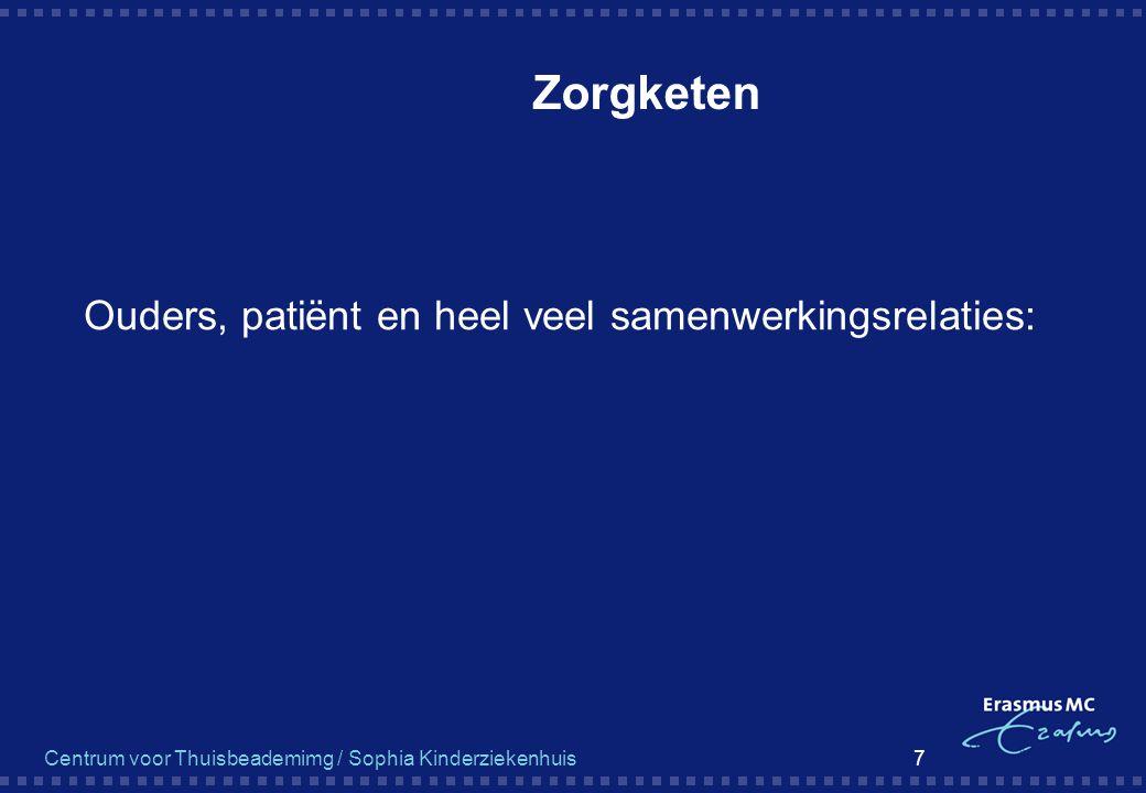 Centrum voor Thuisbeademimg / Sophia Kinderziekenhuis 7 Zorgketen  Ouders, patiënt en heel veel samenwerkingsrelaties: