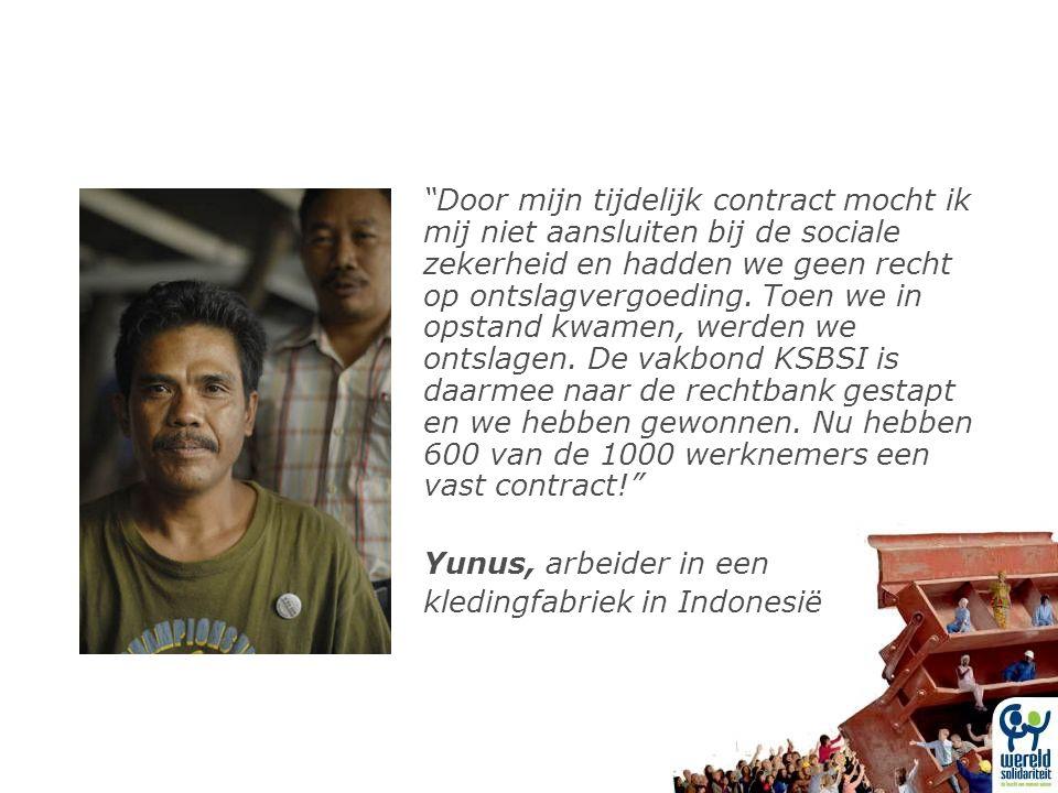 Door mijn tijdelijk contract mocht ik mij niet aansluiten bij de sociale zekerheid en hadden we geen recht op ontslagvergoeding.