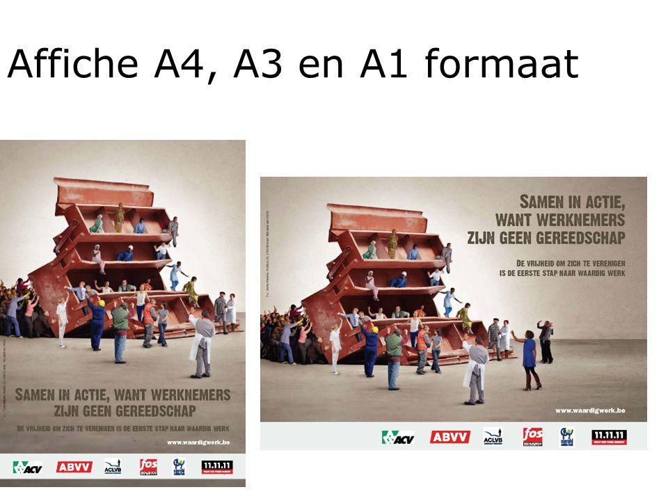 Affiche A4, A3 en A1 formaat