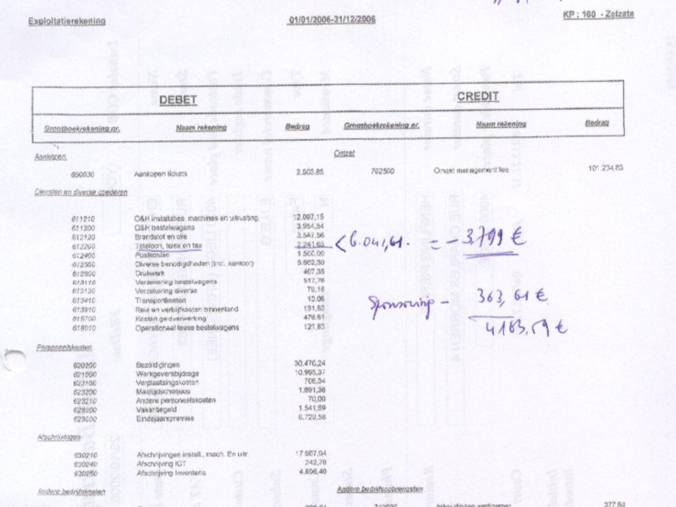 De klacht bij de procureur: fraude in boekhouding Exploit rek 2006 met sponsoring Exploit rek 2006 met sponsoring Exploit rek 2006 met sponsoring