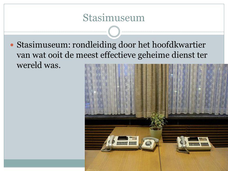 Stasimuseum Stasimuseum: rondleiding door het hoofdkwartier van wat ooit de meest effectieve geheime dienst ter wereld was.
