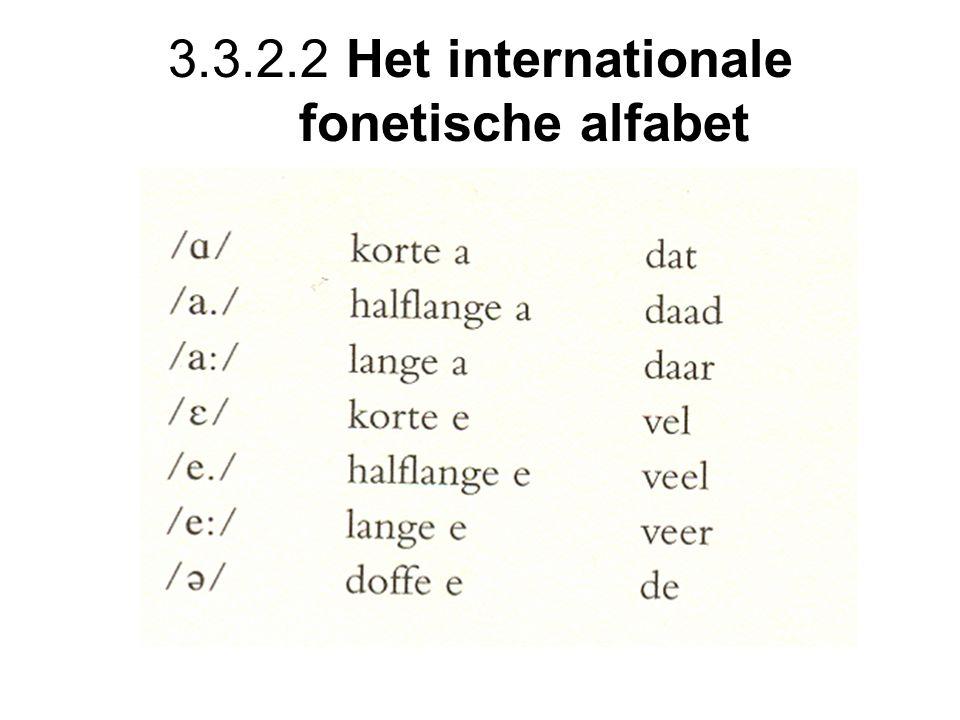 3.3.2.2 Het internationale fonetische alfabet
