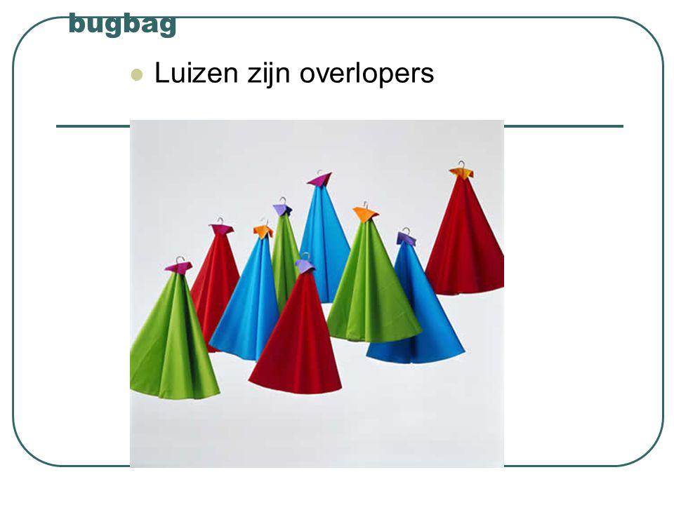 bugbag Luizen zijn overlopers