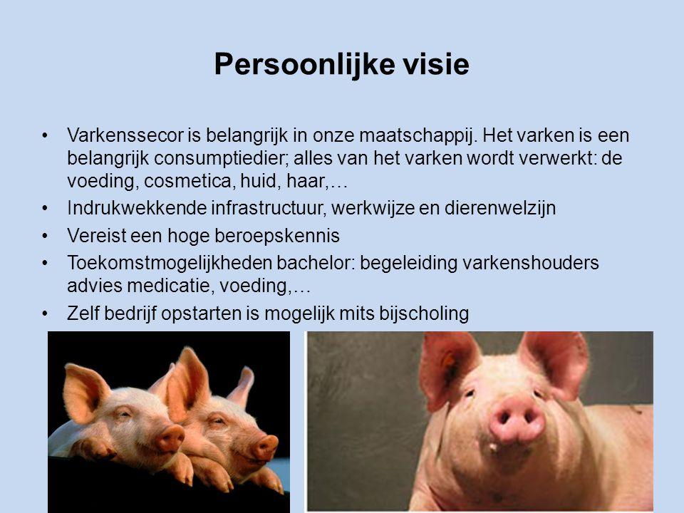 Persoonlijke visie Varkenssecor is belangrijk in onze maatschappij.