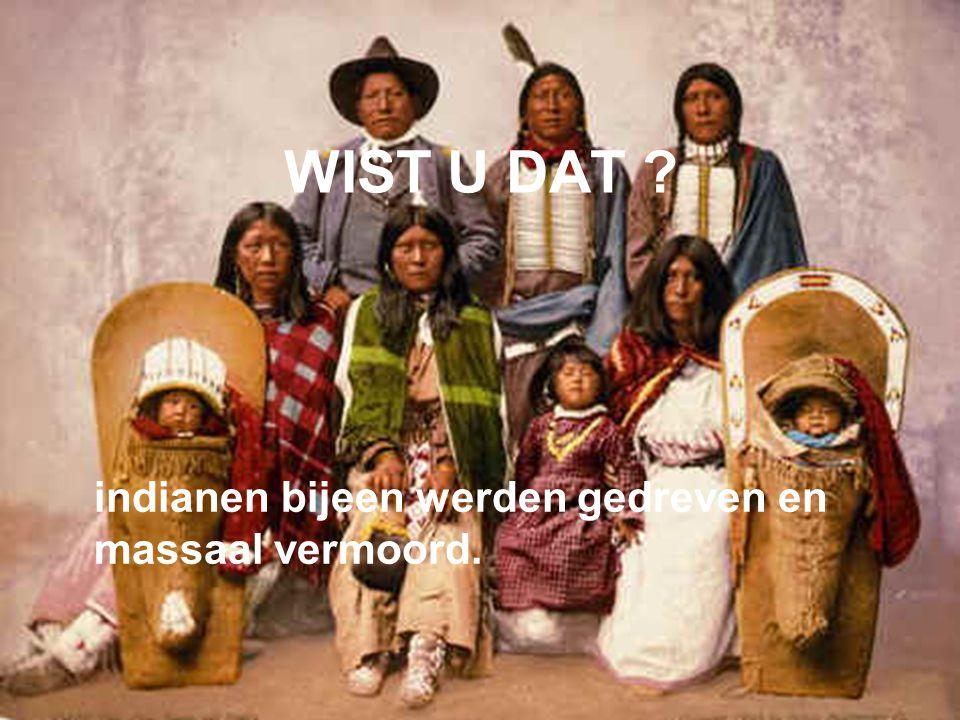 WIST U DAT ? indianen bijeen werden gedreven en massaal vermoord.