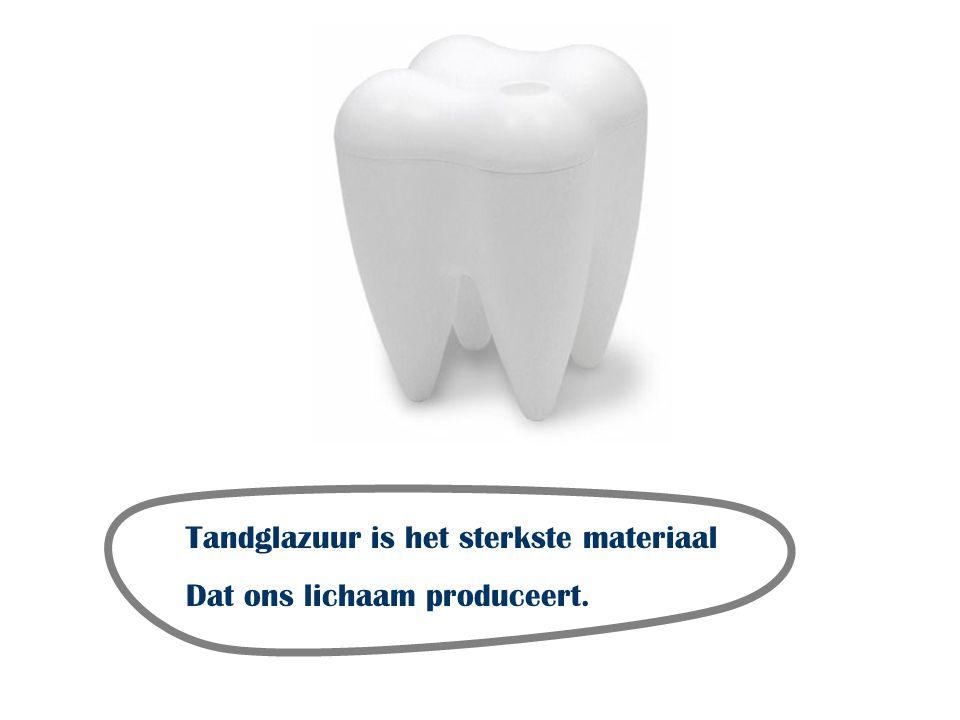 Tandglazuur is het sterkste materiaal Dat ons lichaam produceert.