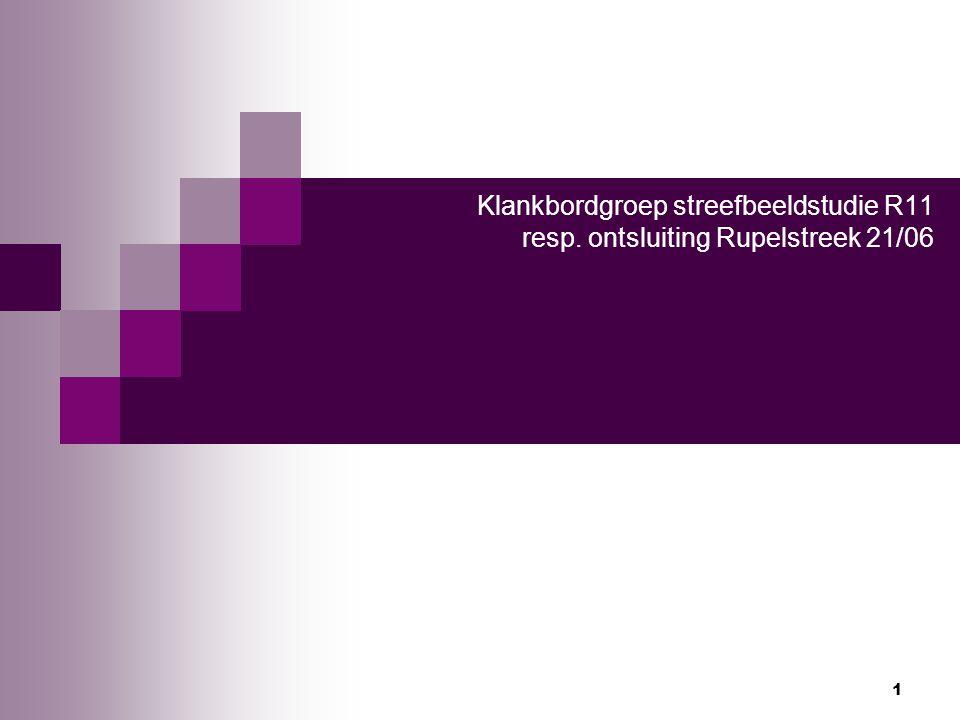 1 Klankbordgroep streefbeeldstudie R11 resp. ontsluiting Rupelstreek 21/06