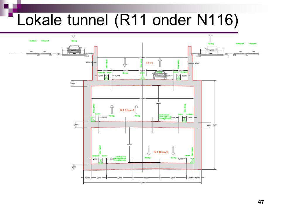 47 Lokale tunnel (R11 onder N116)