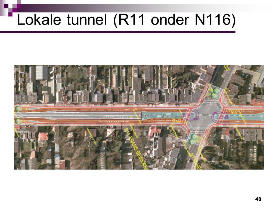 48 Lokale tunnel (R11 onder N116)