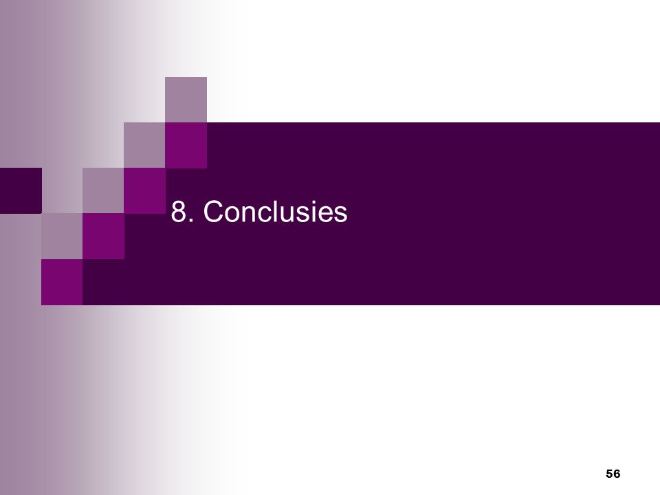 56 8. Conclusies