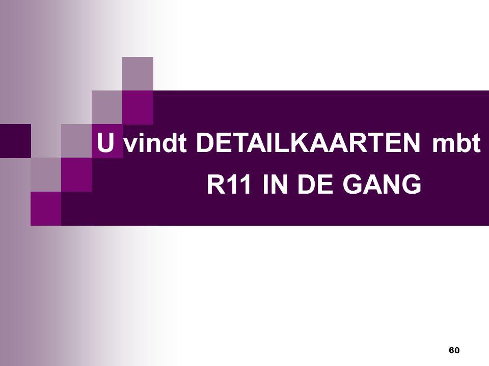 60 U vindt DETAILKAARTEN mbt R11 IN DE GANG