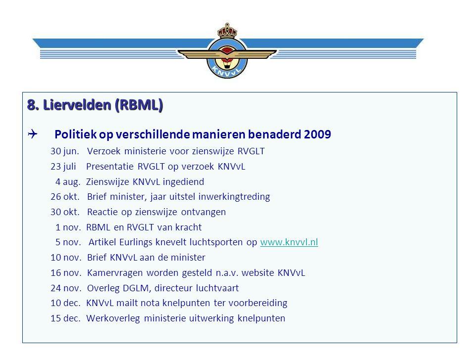 8. Liervelden (RBML)  Politiek op verschillende manieren benaderd 2009 30 jun.